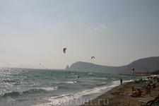 Вид с пляжа на Террачину