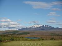 Приехали посмотреть на вулкан Гекла.