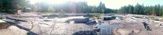 Беломорские петроглифы панорама