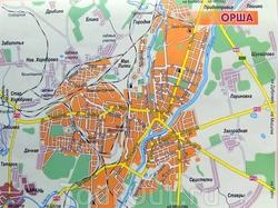 Карта Орши