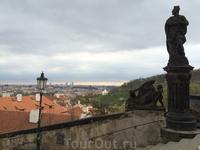 Вид на город с Пражского Града