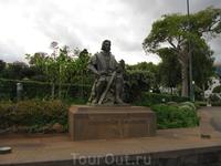 """Памятник Х.Колумбу в парке """"Санта-Катарина"""""""