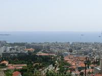 Вид на Салоники и Термальный залив от стен Кастро