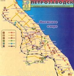 Схема движения троллейбусов в Петрозаводске