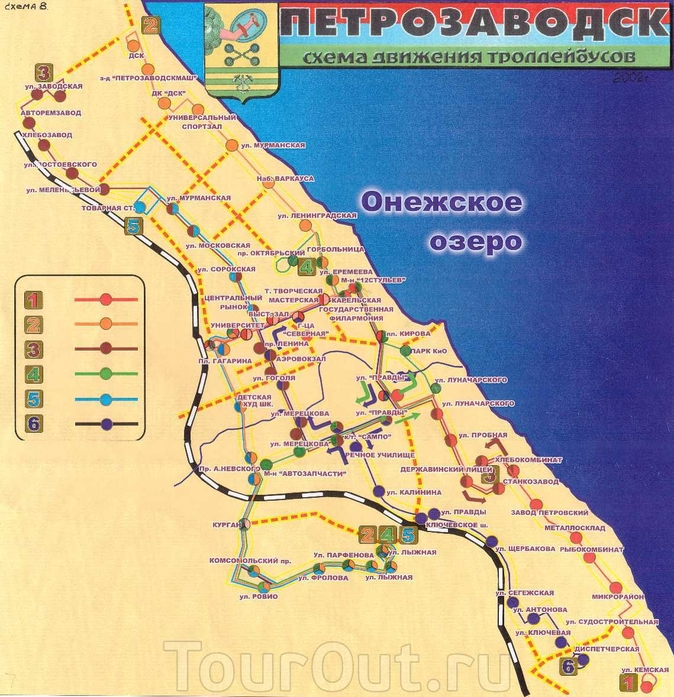 Схема движения троллейбусов в