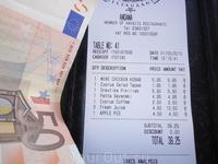 Это средний чек на завтрак , на троих , в кафе в Протарасе