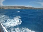 Потрясающе синее море Кипра