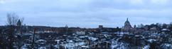 панорама части Смоленской стены. Снято с обзорной площадки возле Успенского кафедрального собора.