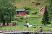городок Флом в устье Аурландсфьорда