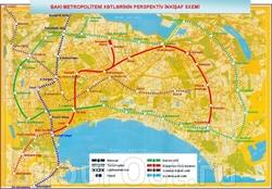 Карта метро Баку