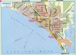 Карта Бердянска с улицами