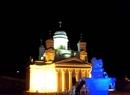 """""""Хельсинский Кафедральный собор"""" из снега в Леви ( Китайское  творение в Финляндии ), 2011"""