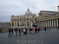 чуть чуть возвращаешься от Ватикана и.... видишь площадь перед Собором Святого Петра