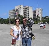 Я и Ира в Гаване на площади Революции