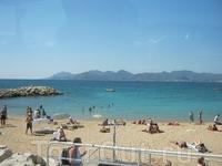 Каннский пляж