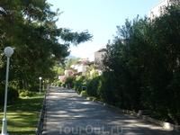 Вид на территорию отеля Grand Yazici Mares