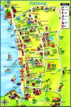 Карта Патонга для туристов