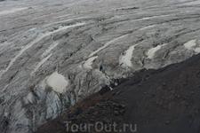 Ледник. Вид сверху.