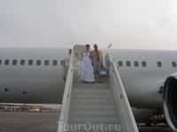 Выход из самолета в Шарме