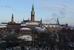 вид из окна отеля на парк Тиволи и городскую ратушу