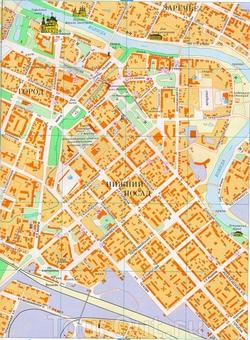 Карта центра Вологды