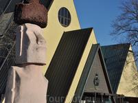 Осло. Полуостров Бюгдё. Музей &quotФрама&quot и статуя с острова Пасхи