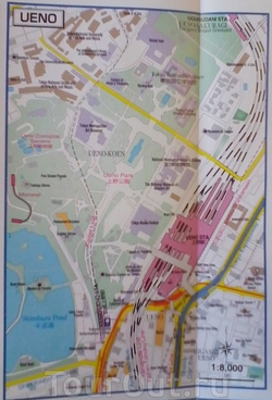Карта Уэно в Токио