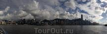 Панорама Залива Виктории днем...