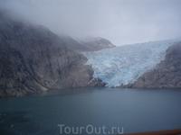вот так сползают ледники