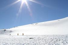 Бесконечные снежные просторы.