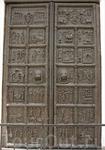 Магдебургские (Корсунские, Плоцкие, Сигтунские) врата. По одной из версий эти врата сделаны в 1153 году в городе Магдебурге и предназначались для собора в Плоцке. С середины XV века бытовала легенда,
