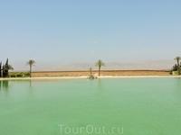 Обширное озеро в поместье, используемое для полива деревьев.