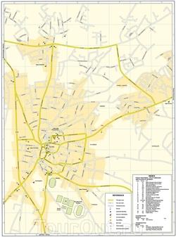 Карта Паралимни с улицами