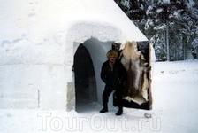 Иглу (ледяной дом) в деревне Йолоупукки