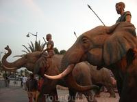 воины на слонах