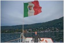 озеро Лаго Маджоре,под швейцарским флагом