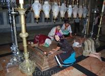 камень миропомазания (Храм Гроба Господня,Иерусалим)