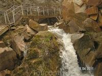 Медовые водопады; третий водопад - &quotМалая чёртова мельница&quot
