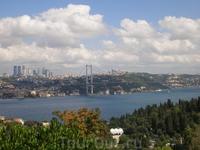Вид на Босфор и Мост Ататюрка со Смотровой площадки.
