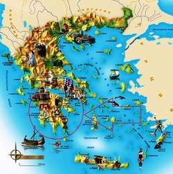 Пелопоннес на карте