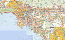 Карта Лос-Анджелеса с улицами
