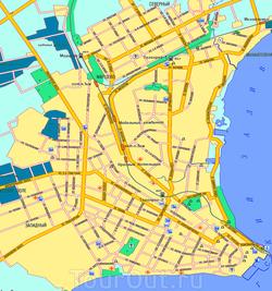 Карта Таганрога с дорогами