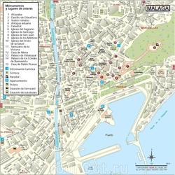 Карта Малаги с улицами