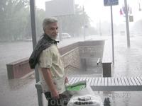 Ростов встретил проливным дождем...