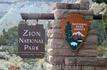 """Вот мы и пересекаем границу национального парка Зайон.  Своё название парк получил благодаря мормону Исааку Бегунину, у которого здесь было владение """"Little ..."""