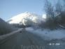 Зимняя дорога в Приэльбрусье