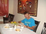 На завтраке в нашем отеле Лито