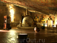 Пищерный храм - Дамбулла (1 Век до н.э)