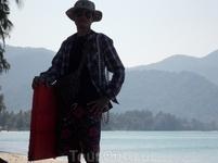традиционное тайское занятие для коренных жителей на пляжу...)