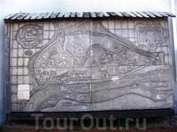 Карта-схема памятников архитектуры Пскова.